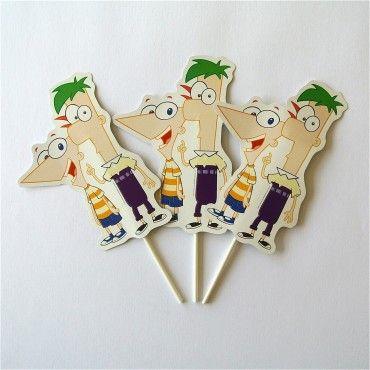 Topers Phineas y Ferb - Artículos de Fiesta