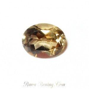 Batu Permata: Smookey Topaz Oval Facet Cut 1.95 carat