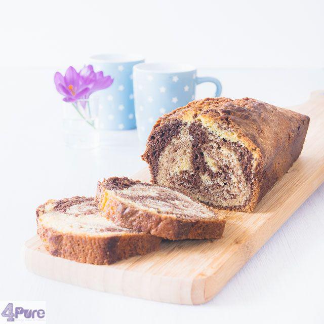 Hou je van chocolade cake of heb je liever vanille? Je hoeft niet meer te kiezen met dit recept voor chocolade vanille marmer cake.