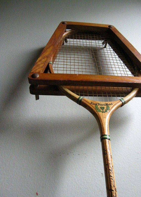 This reminds me of my childhood - I remember putting the press on the raquet, too.     I was the badminton champion of the neighborhood, you know :)