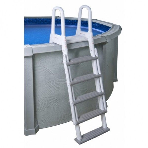 this sleek and sturdy a frame ladder is designed for easy entry and exit from your above ground pool constructed of maintenance free resin this a frame
