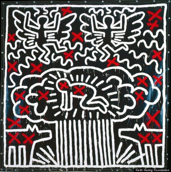 """Keith Haring Tarp to be included in The Political Line"""" April 19, 2013 - August 18, 2013 at The Musée d'Art Moderne, Paris."""