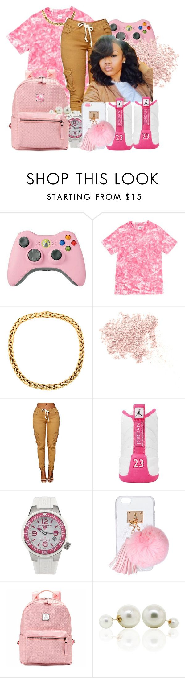 """""""NBA 2K16"""" by china-dolly ❤ liked on Polyvore featuring Opening Ceremony, Bare Escentuals, NIKE, Swiss Legend, Ashlyn'd and DaVonna"""