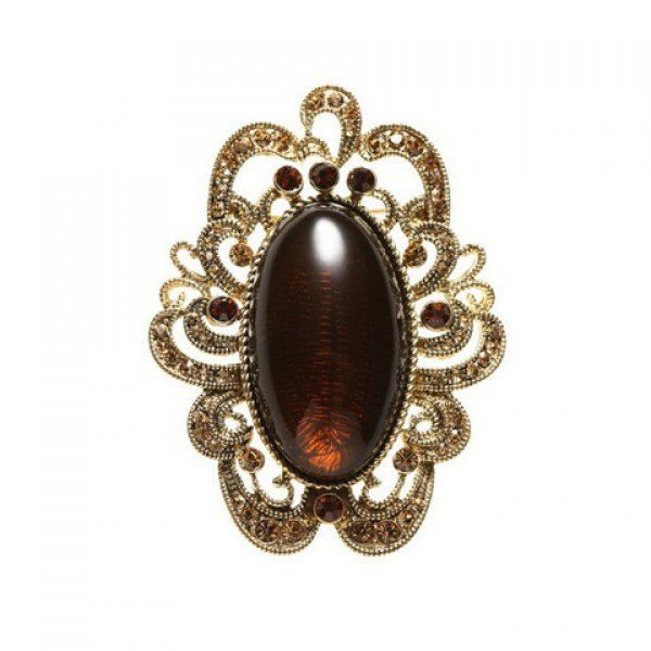 Vintage Hollow Design Faux Gemstone Brooch For Women, AS THE PICTURE in Brooches | DressLily.com