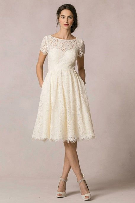 $176.29 –Keyhole Back Short Sleeve Knee Length Lace Wedding Dress www.ucenterdress..... Made to measure & Free Shipping! Shop lace wedding dresses, off the shoulder wedding dresses, open back wedding dresses, wedding dresses with sleeves, wedding dresses with straps, simple wedding dresses, plus size wedding dresses, short wedding dresses…We have the best designer Wedding Dresses 2017 on sale at #UcenterDress.com today!
