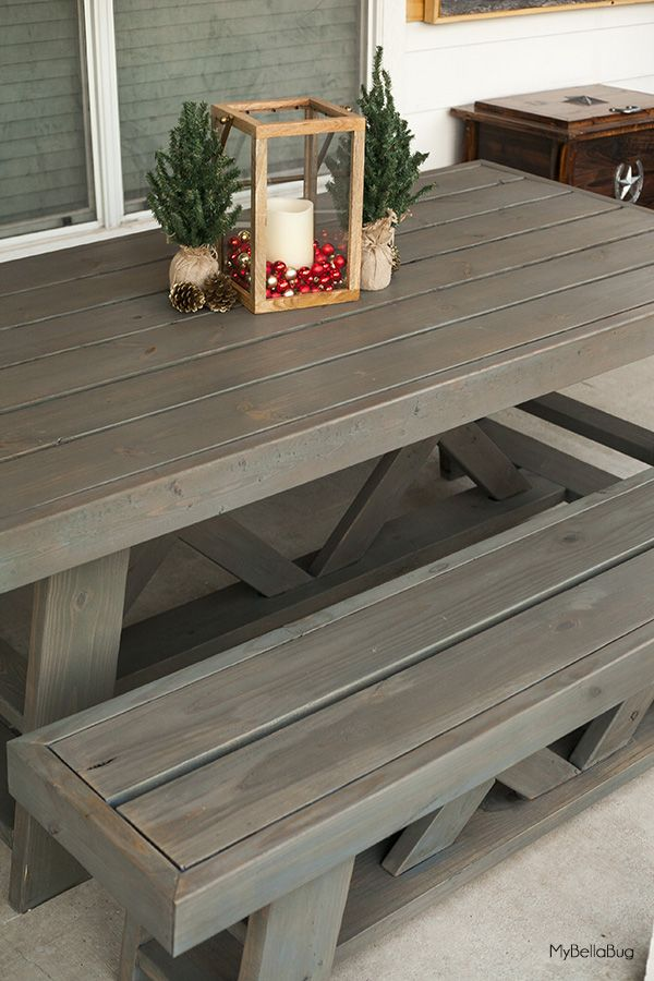 Diy Outdoor Patio Table Benches