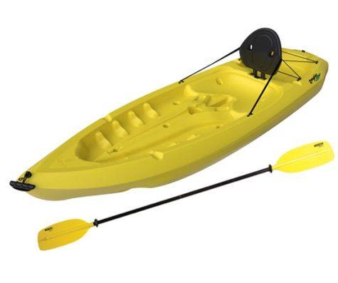 Daylite kayaks sit on top kayaks yellow 8 ft model for Lifetime fishing kayak