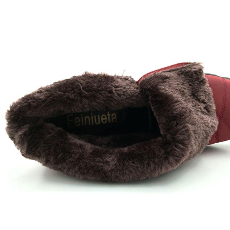 Aliexpress.com: Comprar 2016 otoño invierno casual botas de nieve impermeables botas de tobillo de mujer zapatos antideslizantes planas térmicas de invierno de la moda botas de mujer de snow boots waterproof women fiable proveedores en Fe Store