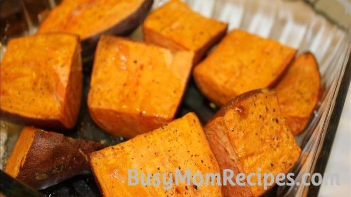 Baked yams! Delicious, healthy side dish and so easy to throw together.