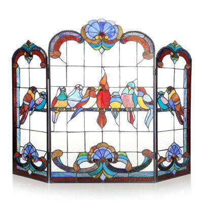 Stained Glass Fireplace Screen Glass Fireplace Screen And