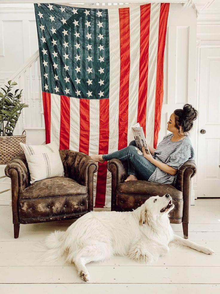 Antique American Flag Decor