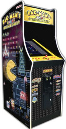 """Pac Man's Arcade Party Video Arcade Game 25"""" Commercial Coin Operated Model"""