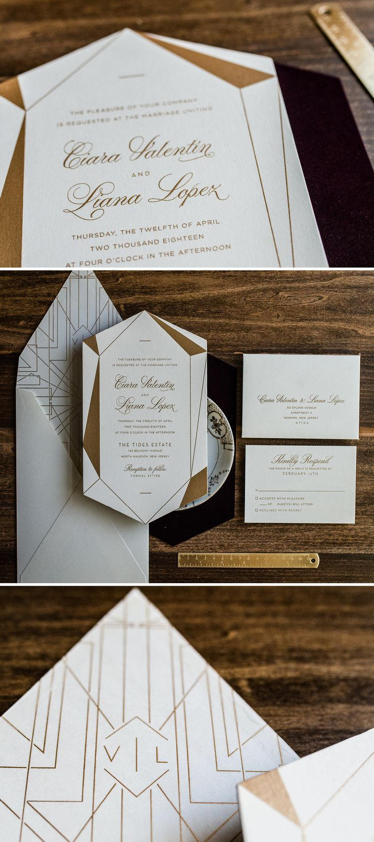 Best 25+ Bronze wedding invitations ideas on Pinterest | Bronze ...