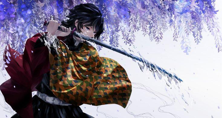 Anime Demon Slayer Kimetsu no Yaiba Giyuu Tomioka