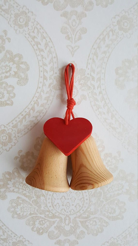 Aarikka Finland Wooden Christmas Bells Made in 80s