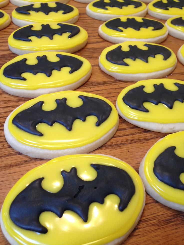 Batman Cookies For A Baby Shower :)