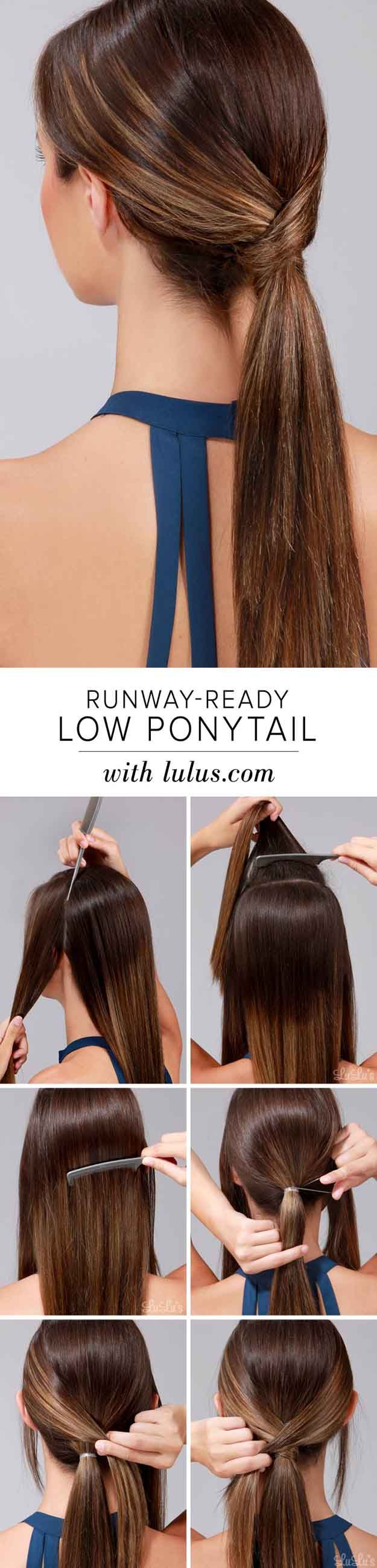 17 Best Ideas About Short Ponytail Hairstyles On Pinterest