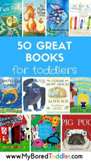 50 great books for toddlers. And I see many of my storytime yoga books in the list. Find fun movement to pair with the stories at LittleTwistersYoga.com