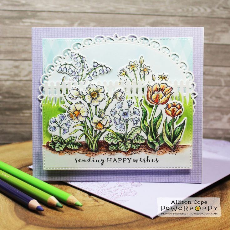 "Happy Wishes Fenced Florals by Allison Cope featuring ""Natural Beauties"" by Power Poppy."