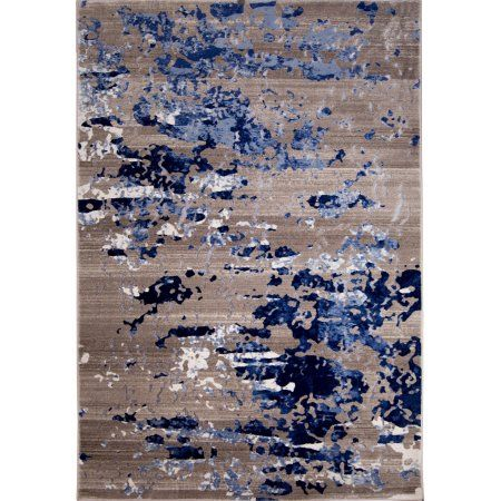 Home Dynamix Vogue Collection Polypropylene Rug, Beige/Blue