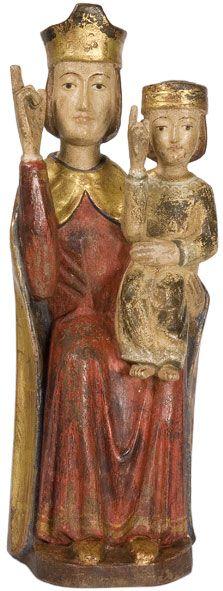 Madonna con Bambino seduta - stile romanico