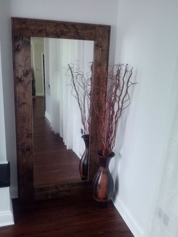 Mirror Rustic Wood Mirror With A Dark Color Also Shaped Plant Twig Rustic Wood Mirror Is Best House Decoration for You Use