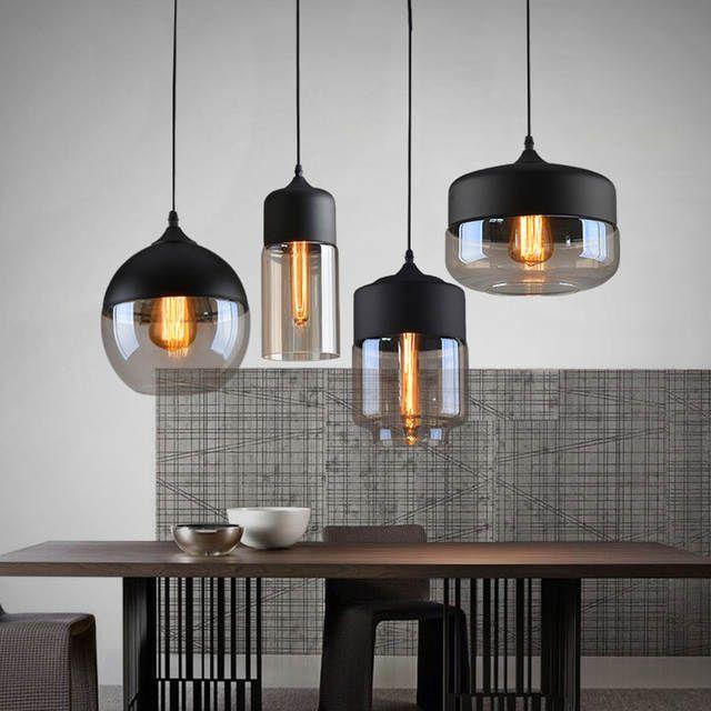 Online Shop Nordic Moderne Loft Opknoping Glas Hanglamp Armaturen E27 E26 Led Hanglampen Voor Keuken Restaura Eetkamer Verlichting Huis Verlichting Verlichting