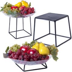 Tiered Buffet Display Stand | single tier food risers multi tier wire racks only for