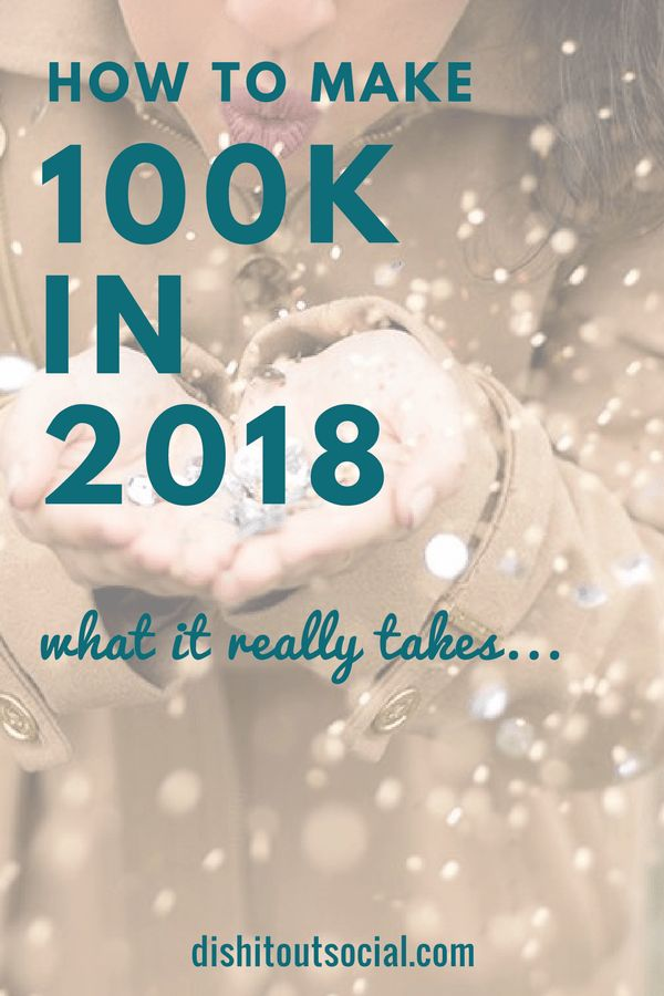 How to Make $100k in 2018. Do you want to make more income this year? Do you know what it would take to make 100k in 2018? Read my post to see exactly how you can create a 6 figure online business this year. Start a money making blog, blog your way to 6 figures, make money blogging. #makemoneyonline #bloggingtips