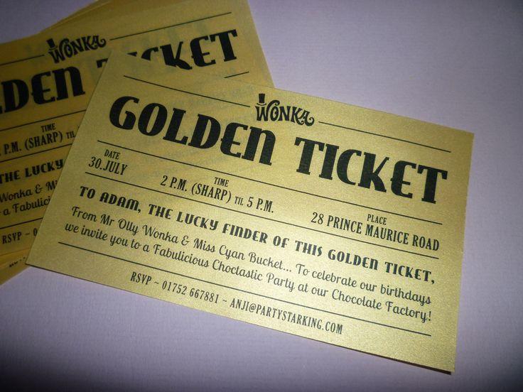 Best 25+ Golden ticket template ideas only on Pinterest | Golden ...