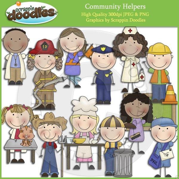 Community Helpers Clip Art Download - $3.50 : Scrappin Doodles, Creative Clip Art, Websets & More