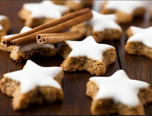 Cinnamon stars - a cookie recipe from the Swiss consulate in New York.