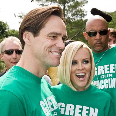 "Jenny McCarthy, Jim Carrey, and ""Green Our Vaccines"": Anti-vaccine, not ""pro-safe vaccine"" Posted by David Gorski on June 9, 2008 (34 Comments)  Jenny McCarthy & Jim Carrey at Green Our Vaccines by David SBM, via Flickr"