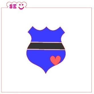 Police Shield Stencils, Two Step Option, for Cookies, Cakes & Culinary