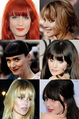 Celebrity Fringes & Hairstyles - celebrity hair and hairstyles