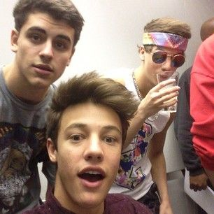 cameron dallas, jack gilinsky , and taylor caniff