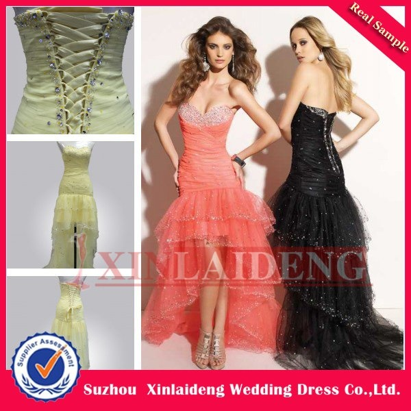 Aliexpress.com : Buy cheap tulle front short long back beaded sequins prom dress(PMD001) from Reliable front short long back prom dress suppliers on XinLaiDeng Wedding Dresses