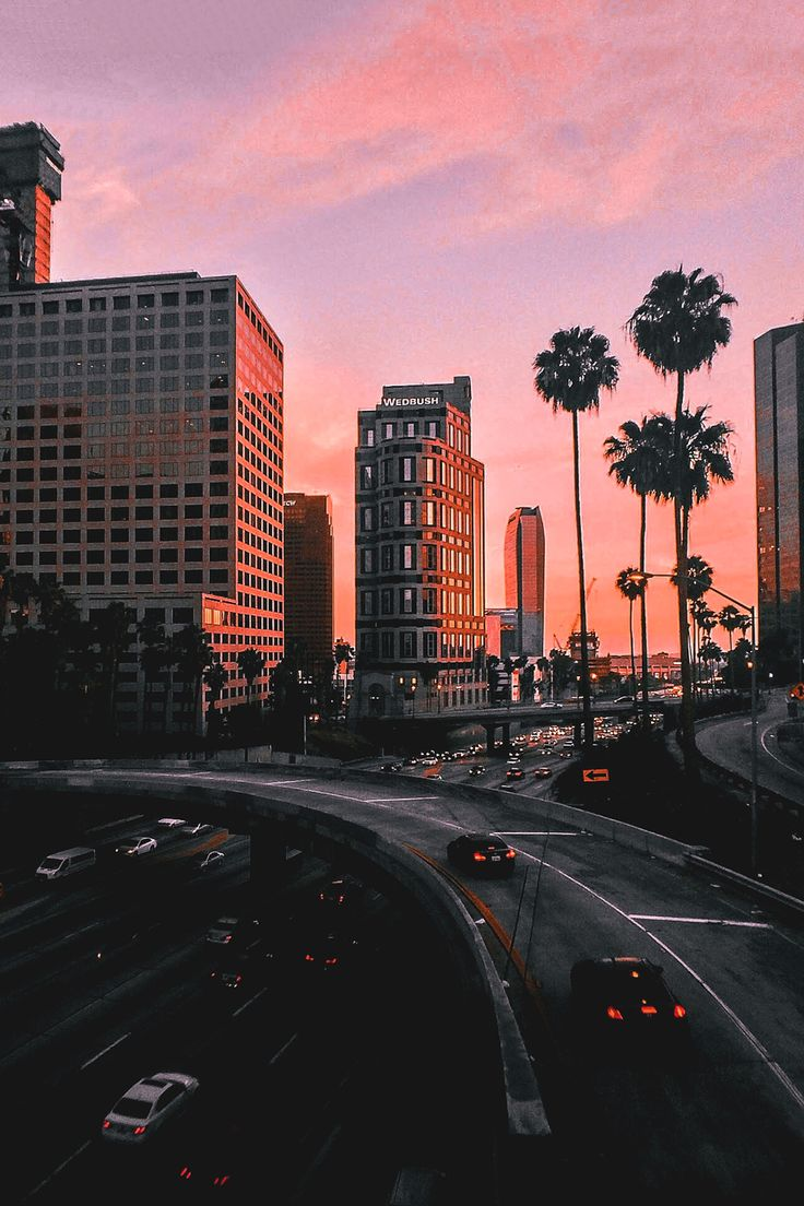 Los Angeles Sunset Iphone WallpaperIphone