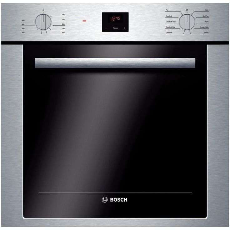 "Bosch HBE5451UC 24"" 500 Series Electric Single Wall Oven in Stainless Steel"