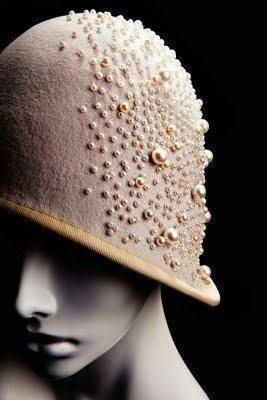 Vintage pearl cloche