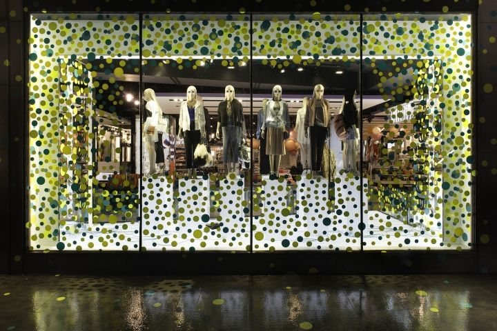 Topshop Dots windows by CCLR, London – UK » Retail Design Blog