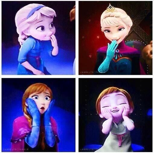 Elsa and Anna. This is cute!!!
