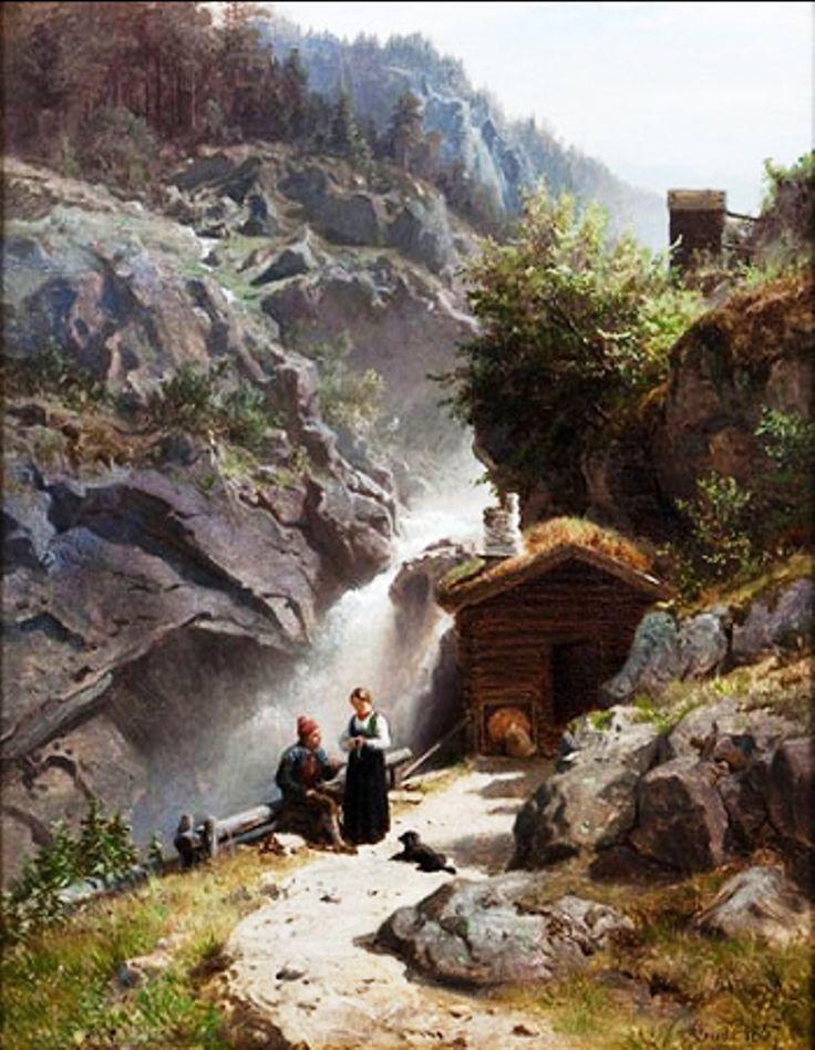 Par ved Rukkedøla, Hans Dahl (Norwegian, 1849-1937)