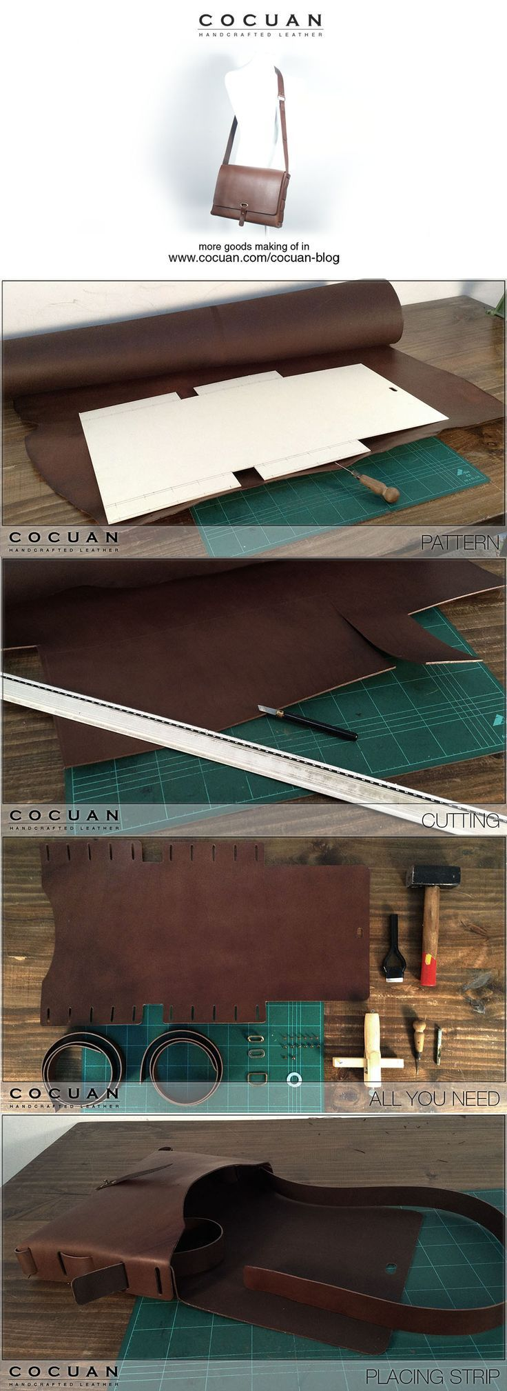 Making of – Leather big messenger bag | COCUAN - large black bag, ladies shoulder bags online, bag in a bag purse *sponsored https://www.pinterest.com/bags_bag/ https://www.pinterest.com/explore/bag/ https://www.pinterest.com/bags_bag/luxury-bags/ http://www.ebay.com/rpp/handbags