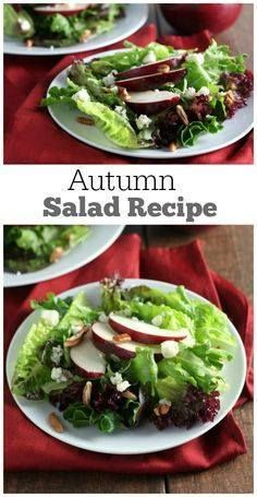 An easy Autumn Salad An easy Autumn Salad recipe for every day...  An easy Autumn Salad An easy Autumn Salad recipe for every day or special occasions. Delicious with apples blue cheese pecans and a maple salad dressing. Recipe : http://ift.tt/1hGiZgA And @ItsNutella  http://ift.tt/2v8iUYW