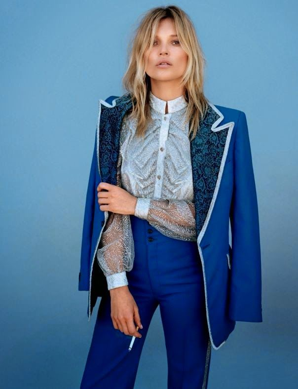 Kate Moss by Alasdair McLellan for Another Magazine #style #fashion #suit