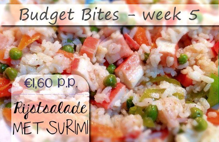 In dit vijfde deel van onze 'budget bites' geven we een lekker recept met Caribische smaak, dat per persoon niet meer dan €2,00 mag kosten. Deze heerlijke rijstsalade met surimi is een …