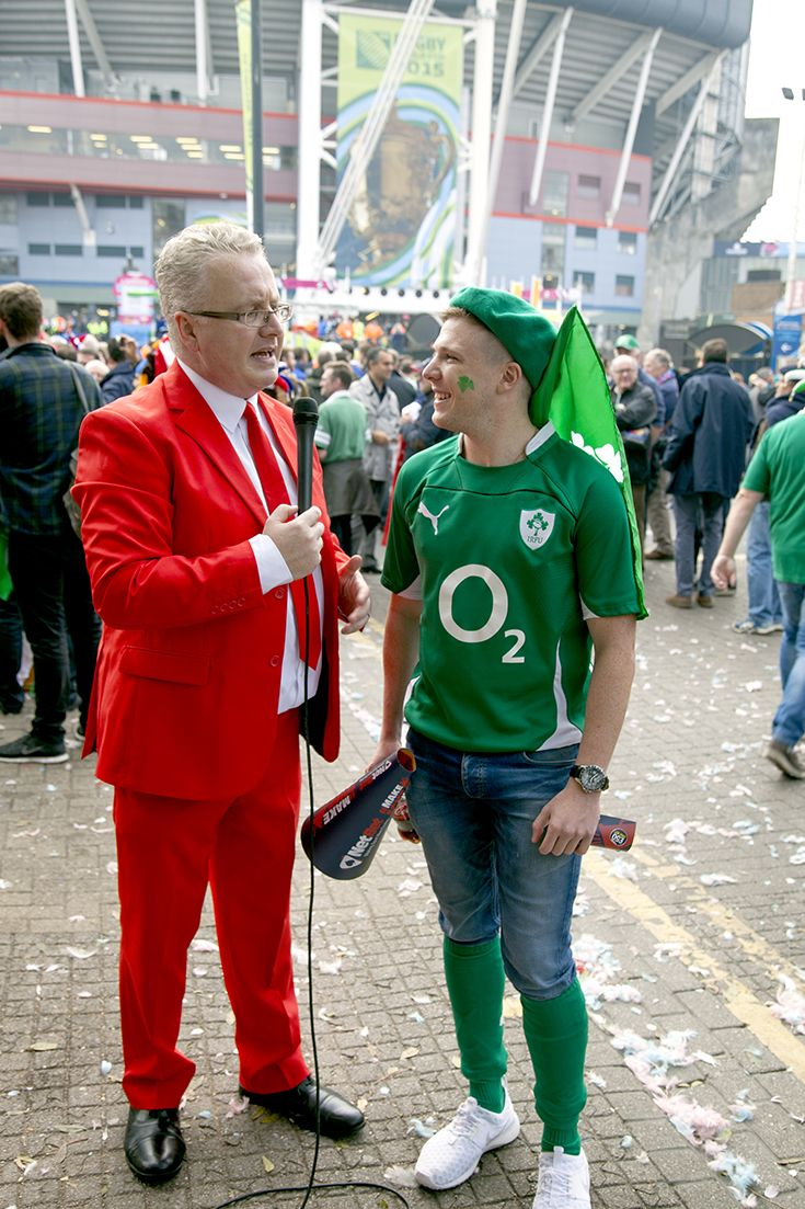 Irish Fan - IRE v FRA - Millennium Stadium, Rugby World Cup 11th Oct, 2015. NetBet #MakeSomeNoise campaign. For more info visit www.dicelondon.com