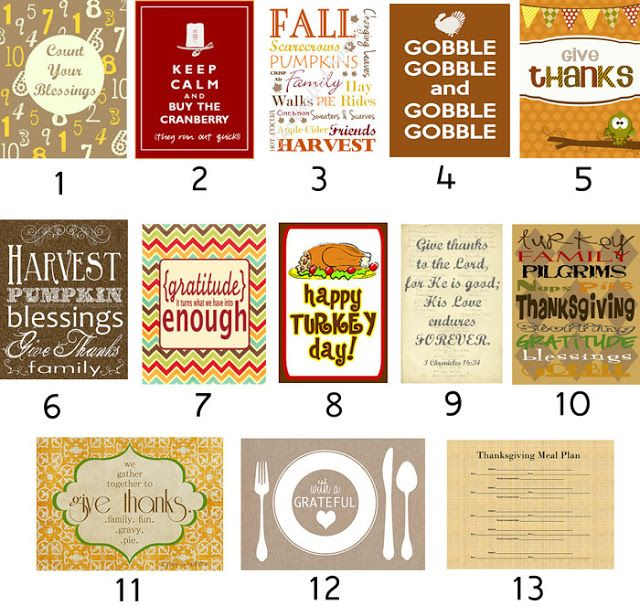 Mommy Pearls: Thanksgiving & Fall Free Printables!