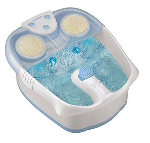 Feel tranquil and relaxed, with the new waterfall foot bath from Conair! The full bubble action soothes your soles, while our innovative waterfall massages the tops of your feet as it pampers your toes. Pumice stone, brush and soft-touch massage attachments add touch of luxury; three toe-touch controls make operation easy. Nothing feels better after a long hard day than a foot massage!